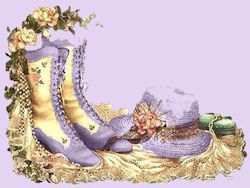 victorian boots and hat